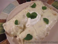 Enchiladas are a favorite in our home. These are made using a rotisserie chicken and topped with a simple creamy green chile sauce. Mexican Dishes, Mexican Food Recipes, Beef Recipes, Chicken Recipes, Ethnic Recipes, Recipies, Green Chile Sauce Recipe, Green Chicken Enchiladas, Mexican Enchiladas