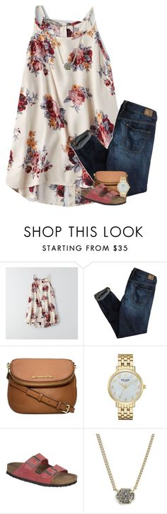 """""""Enter Our Contest!! (read d)"""" by your-daily-prep ❤ liked on Polyvore featuring American Eagle Outfitters, Michael Kors, Kate Spade, Birkenstock, Kendra Scott and ydpcontest"""