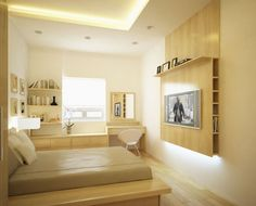 Wohn Schlafzimmer Design Ideen #Wohnung