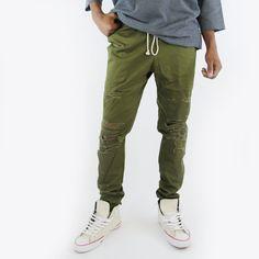 Thrasher Cotton Pants Olive - eptm#eptm #eptmusa #shopredcar7 #mensblog #fashionblogger #dtla #madeinusa #madeinlosangeles