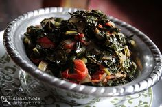 """Phyll's mom made this this past weekend and it was YUMMY! Kenyan Kale to """"Push the Week"""" (Sukuma Wiki) New Year's Food, Good Food, New Year's Eve Food Traditions, Homemade Chapati, New Years Eve Food, Greens Recipe, Other Recipes, Stew, The Best"""