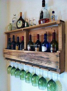 pallets drink rack