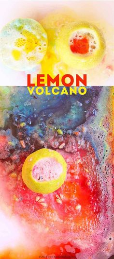 Try this easy science activity for kids: make lemon volcanoes and watch the chemical reaction between citric acid and baking soda.