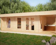 2Raum Gartenhaus Java mit zusätzlichem Abstellraum von