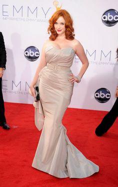 Emmy Awards 2012: Christina Hendricks in Christian Siriano.  #Emmys