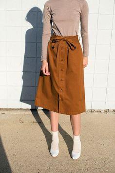 No. 6 - Caramel Parson Skirt   BONA DRAG