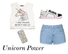 """Unicorn"" by juliaschwartz202 on Polyvore featuring Forever 21, Ally Fashion, Sophia Webster, women's clothing, women, female, woman, misses and juniors"