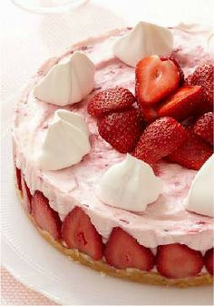 Strawberry Cheesecake Supreme — Topped with fruit and tufts of whipped cream, it's the perfect dessert recipe to serve at your next party or family a gathering.