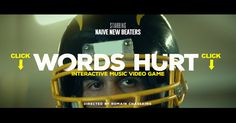 Naive New Beaters : le clip dont vous êtes le héros J Words, Words Hurt, Video Game Music, Music Videos, Digital Storytelling, Story Video, Web Inspiration, Clip, Naive
