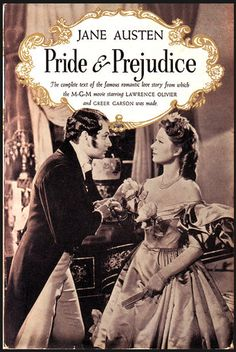 """Pride & Prejudice The Movie Tie-In The 1940 MGM film """"Pride and Prejudice,"""" starring Laurence Olivier and Greer Garson, was Hollywood's first adaptation of an Austen novel. This is what introduced me to Pride and Prejudice. I was instantly hooked! Lawrence Olivier, Pride & Prejudice Movie, Jennifer Ehle, Jane Austen Movies, Greer Garson, Bbc Drama, Mr Darcy, Period Dramas, Period Movies"""