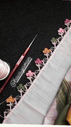 Crochet Borders, Crochet Motif, Crochet Lace, Crochet Stitches, Crochet Patterns, Needle Lace, Handmade Clothes, Hand Embroidery, Needlework