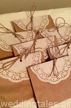 Διακόσμηση Γάμου: Vintage χάρτινα σακουλάκια γάμου
