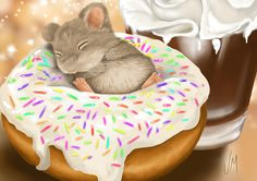 Mouse Painting - Christmas Binge by Veronica Minozzi
