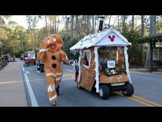 MouseSteps - Fort Wilderness Christmas Decorations and Golf Cart Parade 2013, Photos and Video