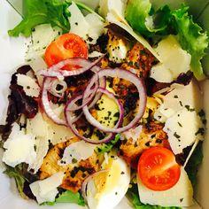 Salade Poulet grillé mariné huile olive citron orange cumain...
