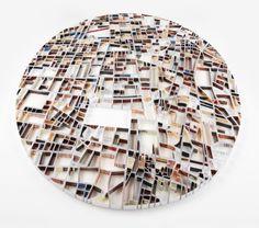 tehran- map sculpture by mathew picton