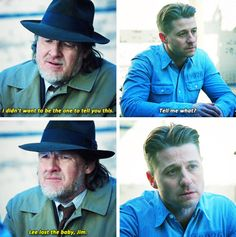 """Lee lost the baby, Jim"" - Harvey and Jim ((Oh, no! Riddler Gotham, Gotham Tv, Ben Mckenzie Gotham, Gotham Season 2, Jim Gordon, Dc World, Comic Movies, Dc Heroes, The Cw"