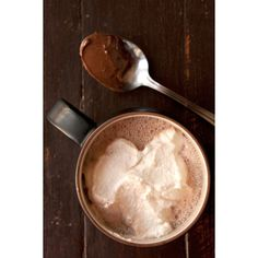 Nutella Hot Chocolate with Hazelnut Liqueur ❤ liked on Polyvore featuring pictures, food, backgrounds, photos and pics