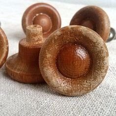 Vintage wooden small handle Retro drawer handles by MyWealth