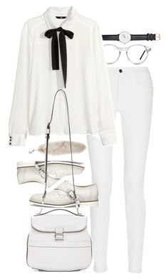 """""""Untitled #7743"""" by nikka-phillips ❤ liked on Polyvore featuring Daniel Wellington, GlassesUSA, Proenza Schouler, H&M and Eureka"""