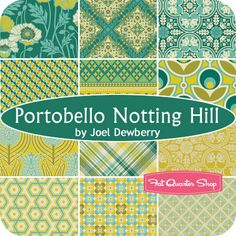 Portobello Notting Hill Fat Quarter Bundle Joel Dewberry for Free Spirit Fabrics - Fat Quarter Shop