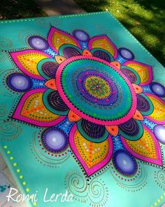 Pin by Evelyn Lautenbach on Blume des Lebens und Mandalas Mandala Art, Mandala Drawing, Mandala Painting, Mandala Pattern, Mandala Design, Whimsical Painted Furniture, Painted Rocks, Hand Painted, Dot Art Painting
