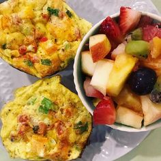 Day 1 of our Energize Your Spring challenge starts now. Groceryshrinkplus.com Choose the everything plan.   Members get a new menu with recipes and shopping list each week.   Breakfast today is Southwest egg cups with a side of cut fruit.   Tomorrow is Carrot  cake baked oatmeal .  Its so easy to stir together that I made mine while the egg cups baked.  Its in the fridge to bake fresh tomorrow morning.   Recipes in the Fit Mama are sized for one person but can be multiplied for a family…