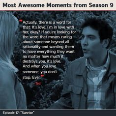 Himym Season  Ted Mosby Quote On What Love Is It Is So True Though