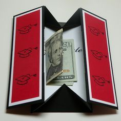 """Carolyn's Paper Fantasies: Graduation Box Card - Gift Idea. (Pinner: """"I followed through to a six minute how to video-looks like a winner."""")"""
