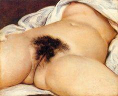 L'origine du monde de Gustave Courbet See the best #Art installations in New York at www.artexperience...