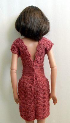 Crochet pattern PDF for 22-inch fashion doll par PrincessOfCrochet