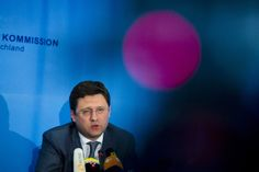 Ukraine has failed to fulfil its obligations from May 26 to repay its gas debt to Russia: Russian Energy Minister Alexander Novak speaks during a news conference after EU-Ukraine-Russia energy negotiations at the EU commission representation in Berlin May 30, 2014. (Reuters/Thomas Peter)