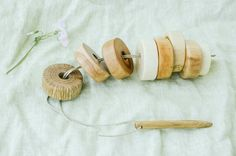Wood Lacing Toy Waldorf toy Wooden Toy Montessori by MamumaBird