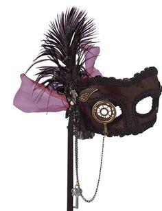 halloween aristocrat women dress steampunk | Deluxe Steampunk Masquerade Mask