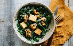 Coconut Rice, Tofu, and Kale Salad