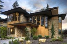 Wood and stone home