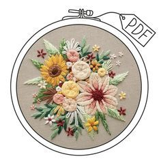 Dmc Embroidery Floss, Embroidery Supplies, Rose Embroidery, Modern Embroidery, Hand Embroidery Patterns, Embroidery Designs, French Knot Embroidery, Sunflower Bouquets, Forever Flowers