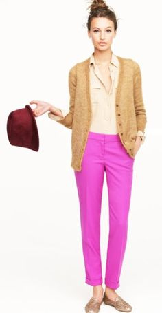 Such an adorable outfit... my personal favorite are the cafe capri's in wool. These are perfect for the fall.
