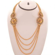 Online Shopping for Gold Plated Paisley Design Necklace | Necklaces | Unique Indian Products by JewelsGenie.com - MJEWE47787877870