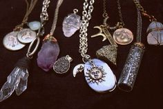 diy chakra charms | cool jewelry minerals necklaces pendants rocks treasures