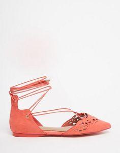 Aldo harmony peach laser cut ghillie lace up flat shoes women fb4725123fe