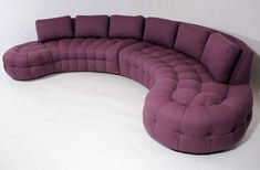 1970s Curved Tufted Sofa by Billy Haines..too darn chic!