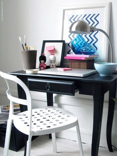 The Leksvik desk from IKEA is the perfect size for a vanity... for me at least.
