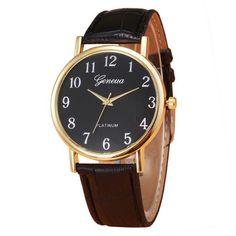 28d82fe8a4c3 Retro Design Leather Band Analog Alloy Quartz Wrist Watch