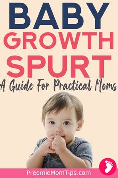 Is your baby eating more than usual, and rarely seems satisfied? It could be a growth spurt! Here's a complete survival guide for new moms on baby growth spurts! Pregnancy Must Haves, Baby Must Haves, First Pregnancy, Preemie Babies, Premature Baby, Baby Growth Spurts, Mom Milk, New Parent Advice, Baby Eating