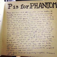 An alphabet challenge: P is for Phantom