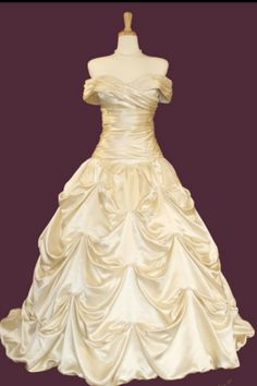 So I found my wedding dress belles dress form beauty and the beast! love
