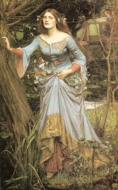 """Ophelia"".  (1910). (by John William Waterhouse)."