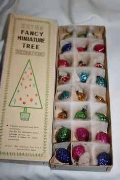 miniature hand blown glass ornaments-Vintage Christmas ornaments Z