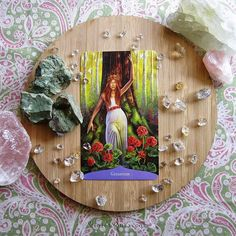 Geranium card from the Magic of Flowers Oracle / Photo © www.VioletAura.com